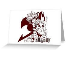 Come On - Natsu Dragneel Fairy Tail Anime (Red) Greeting Card