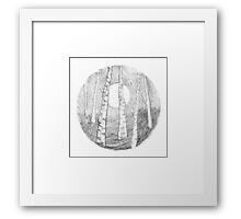 Moonrise - through the woods Framed Print