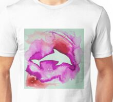 Dolphin in pink Unisex T-Shirt