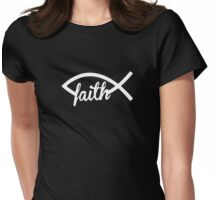 Christian Fish Womens Fitted T-Shirt