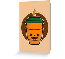 Jack O Latte Greeting Card