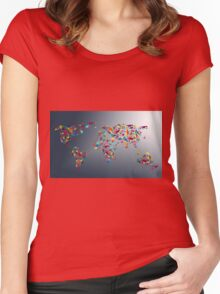 map Women's Fitted Scoop T-Shirt