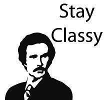 Stay Classy Stencil Photographic Print
