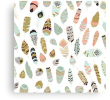 Tribal feather pattern 002 Canvas Print
