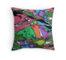 Mapping points Throw Pillow