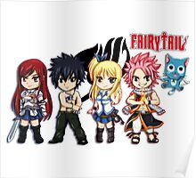 The Group of Fairy Tail Anime Poster