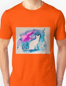 Kitty in blue  Unisex T-Shirt