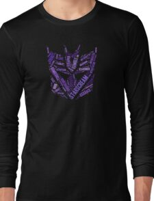Transformers - Decepticon Wordtee Long Sleeve T-Shirt