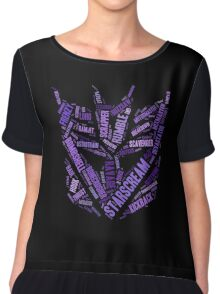 Transformers - Decepticon Wordtee Chiffon Top