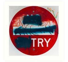 Try Art Print