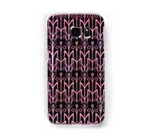 Elegantes schwarz-pinkes Art Deco Muster Samsung Galaxy Case/Skin