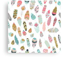 Tribal feather pattern 005 Canvas Print
