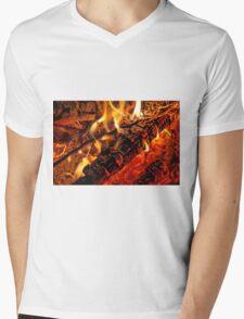 hot macro Mens V-Neck T-Shirt
