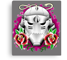 traditional alphonse elric helmet Canvas Print