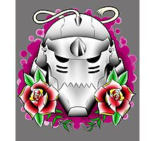 traditional alphonse elric helmet Photographic Print