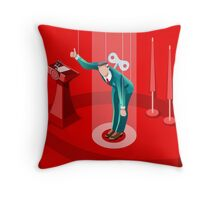 Election Politics System Infographic Throw Pillow