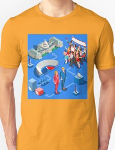 USA Political Elections Infographic Unisex T-Shirt