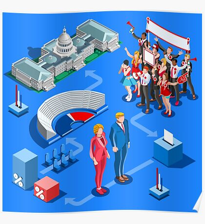 USA Political Elections Infographic Poster