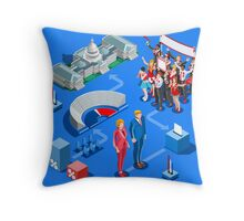 USA Political Elections Infographic Throw Pillow