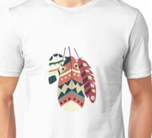Tribal feather pattern 008 Unisex T-Shirt