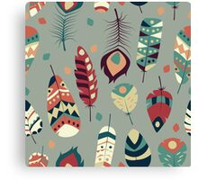 Tribal feather pattern 008 Canvas Print