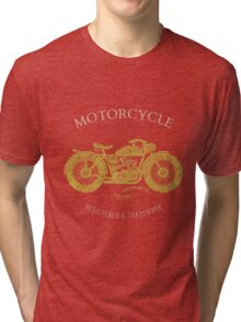 vintage motorcycle design for tee shirt graphic print Tri-blend T-Shirt