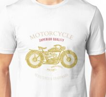 vintage motorcycle design for tee shirt graphic print Unisex T-Shirt