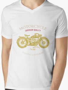 vintage motorcycle design for tee shirt graphic print Mens V-Neck T-Shirt