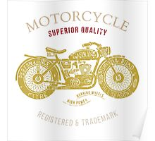vintage motorcycle design for tee shirt graphic print Poster