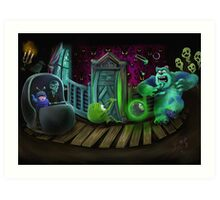 Haunted Monsters Inc Art Print