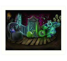 Haunted Monsters Inc Art Print