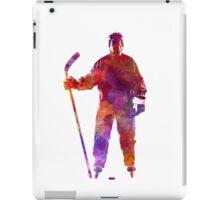 Hockey man player 01 in watercolor iPad Case/Skin