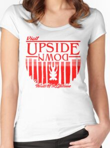 Visit Upside Down Women's Fitted Scoop T-Shirt