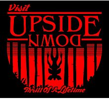 Visit Upside Down Photographic Print