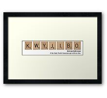 The Simpsons Scrabble - Kwyjibo Framed Print