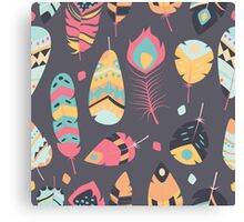 Tribal feather pattern 009 Canvas Print
