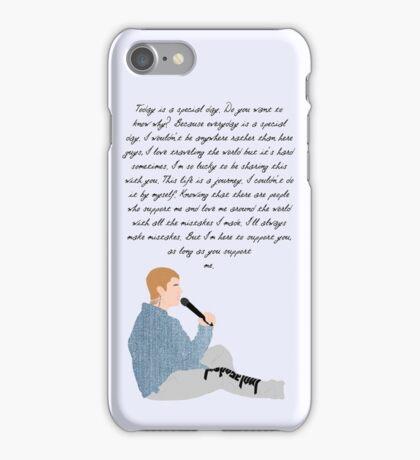 Justin Bieber Purpose Speech iPhone Case/Skin