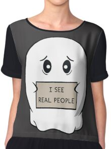 I See Real People Chiffon Top
