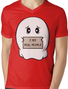 I See Real People Mens V-Neck T-Shirt