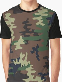 Colorful Camouflage seamless pattern.Woodland style Graphic T-Shirt