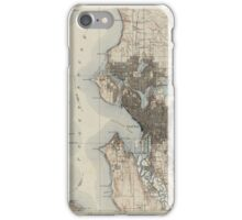 Antique Map of Seattle - USGS Topographic Map - iPhone Case/Skin