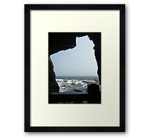 Sea View From A Cave Framed Print