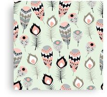 Tribal feather pattern 012 Canvas Print