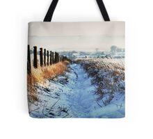 Snow Path Tote Bag