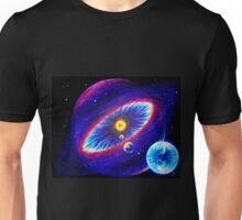 Solar system with heliosphere and Earth analog planet Unisex T-Shirt