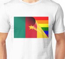 Cameroon Flag Gay Pride Rainbow Flag Unisex T-Shirt
