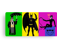 Batman Returns Trio Canvas Print