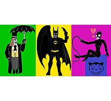 Batman Returns Trio Photographic Print