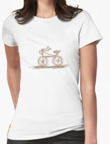 Retro Bike Womens Fitted T-Shirt