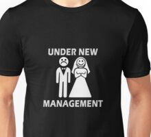 Under New Management Funny Bachelor Party Gift For Married Couples Unisex T-Shirt